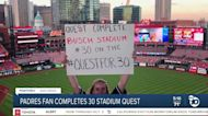 Padres fan completes 30 stadiums quest