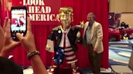 Conservatives have made a gold-colored Trump statue