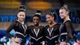 美國體操隊服好閃 黑色緊身衣鑲3500顆水晶