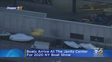 Boats Arrive At The Javits Center For 2020 NY Boat Show