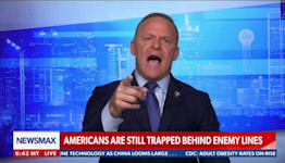 Unhinged Newsmax Host Cuts Off and Yells at Veteran for Mildly Criticizing Trump