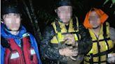 泰崗野溪溫泉6人受困沙洲 搜救人員深夜全力救援
