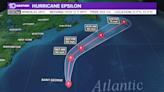Hurricane Epsilon weakens, still CAT 1 strength Thursday evening, to bring tropical storm conditions to Bermuda