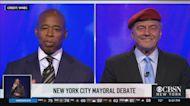 New York City Mayoral Candidates Eric Adams, Curtis Sliwa Meet For First Debate