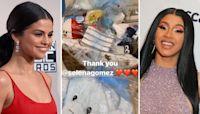 Cardi B Reacts to Selena Gomez's Gift for Rapper's Newborn Son