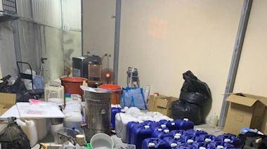 利用大雨掩蓋臭味連夜趕工 警破獲製毒工廠