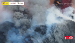 Dramatic Drone Footage Shows Lava and Ash Spewing From La Palma Volcano