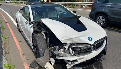 千萬超跑撞「違規機車」車頭全爛 鉅額賠償金曝光!