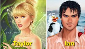 This Artist Brilliantly Imagines Celebrities As Classic Disney Characters