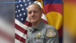 Lincoln County Sheriff's Deputy Michael Hutton returns to work after being shot 3 times