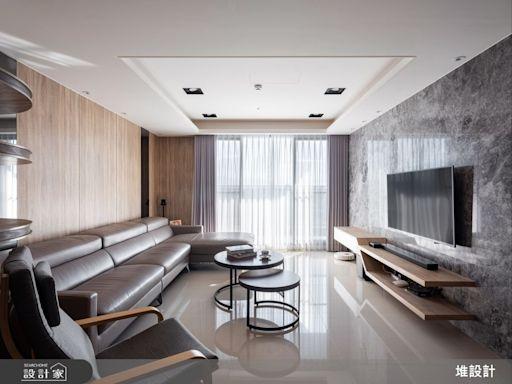 骨科醫生的舒適生活!隱藏門創造二進式玄關,玻璃隔間把陽光帶進餐廚區