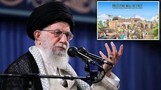 Iran's supreme leader releases anti-Israel poster