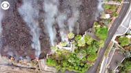 WEB EXTRA: Lava Pours Into Pool on La Palma island in Spain