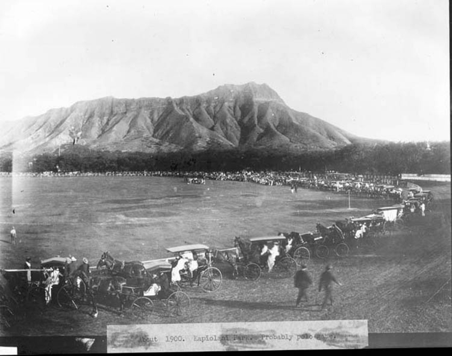 Description Kapiolani Park, polo game, c. 1900.jpg