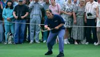 See Adam Sandler drive a golf ball like Happy Gilmore for films 25th anniversary