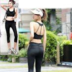 狐狸姬,M-3L運動服偉諾U字二件式瑜珈服路跑運動衣七分褲(奶+七分褲)
