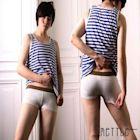 METTLE 中性女孩必備 寬褲頭平口褲率性.舒適質感 中性DOUBLE亮系配色經典必備基本款-7788G