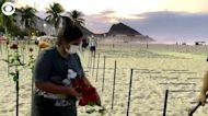 WEB EXTRA: Roses On Brazilian Beach Mark 500,000 COVID Deaths