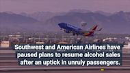 Southwest, American Suspend Alcohol Sales Following Spike in Unruly Passenger Reports
