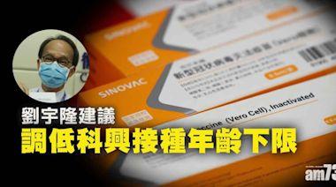 新冠疫苗|劉宇隆倡調低科興接種年齡下限 - 新聞 - am730