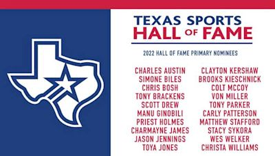 2022 Texas Sports Hall of Fame Primary Ballot Announced