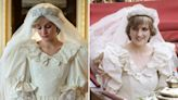 Photos show how 'The Crown' re-created Princess Diana's outfits, from her wedding dress to glamorous gowns