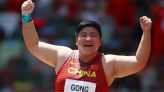 Olympics-Athletics-China's Gong Lijiao wins women's shot put gold