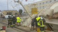 Several Injured as Superyacht Falls on Its Side in Genoa Dry Dock