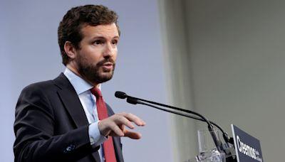Casado se rodea de exlíderes europeos en la convención del PP y lanza guiños a Ciudadanos y Vox