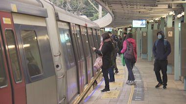 港鐵周五起加密九條路綫非繁忙時間班次