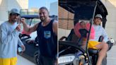 Packers' David Bakhtiari welcomes Aaron Rodgers back with golf cart