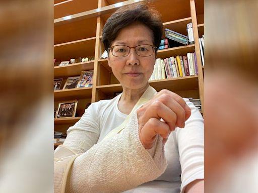 林鄭月娥:右手手肘骨部分崩了 料需兩至三星期癒合 - RTHK