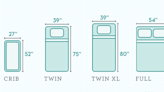 This Handy Mattress Size Chart Makes Bed Shopping Easy
