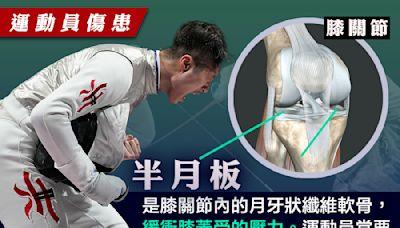 【運動員傷患】張家朗退戰全運會 醫生證實「半月板」受傷