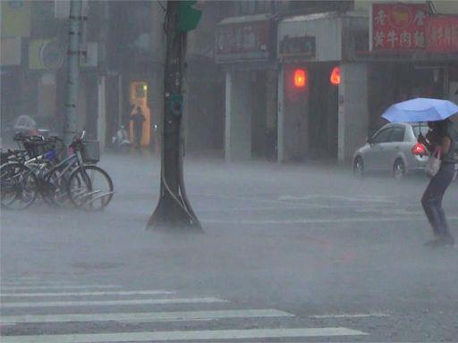 快新聞/6縣市大雨特報 注意雷擊強陣風