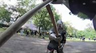 'I'm here for the violence' – Gladiator in Central Park