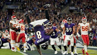 Ravens QB Lamar Jackson comments on end zone flip in Week 2 vs. Chiefs