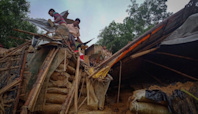 Heavy flooding displaces thousands in Rohingya refugee camps