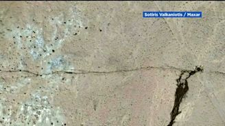 New satellite images show dramatic view of Ridgecrest earthquake