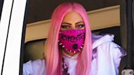 Lady Gaga Drives Truck In Face Mask To Deliver 'Chromatica' To Stores