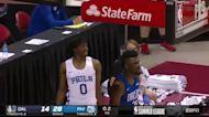 Tyrese Maxey with a buzzer beater vs the Dallas Mavericks