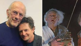 Michael J. Fox and Christopher Lloyd from 'Back to the Future' reunite 35 years later for special fundraising event