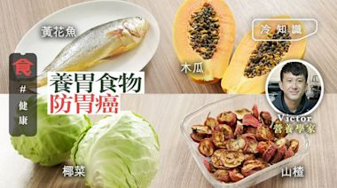 防胃癌要養胃 生食椰菜消除胃炎 木瓜/黃花魚修復胃黏膜 飲山楂水改善胃酸倒流 | 蘋果日報
