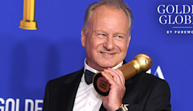 Stellan Skarsgård's Acceptance Speech Was Really a Lesson in Maintaining Your Eyebrows