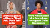 24 Times Celebrities Used Their Red Carpet Outfits To Make A Statement