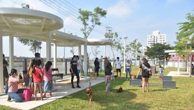 北高雄首座寵物公園啟用 毛小孩玩樂驗收