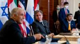 With Yair Lapid at his side, Blinken uses a word that Israel has been longing to hear on Iran
