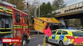Road and rail disruption after lorry hits bridge in Romsey