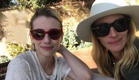Family Fun! Julia Roberts Plays Mahjong with Niece Emma Roberts: 'She Won'
