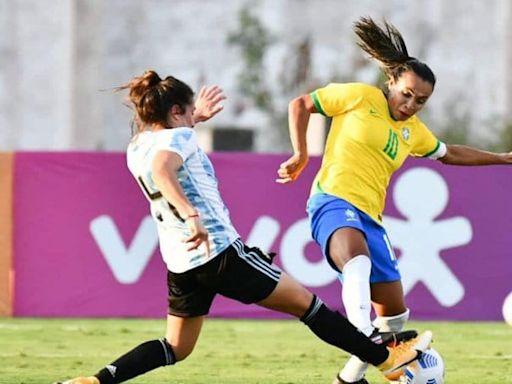 Fútbol femenino: derrota de la Selección Argentina ante Brasil en un amistoso | + Deportes